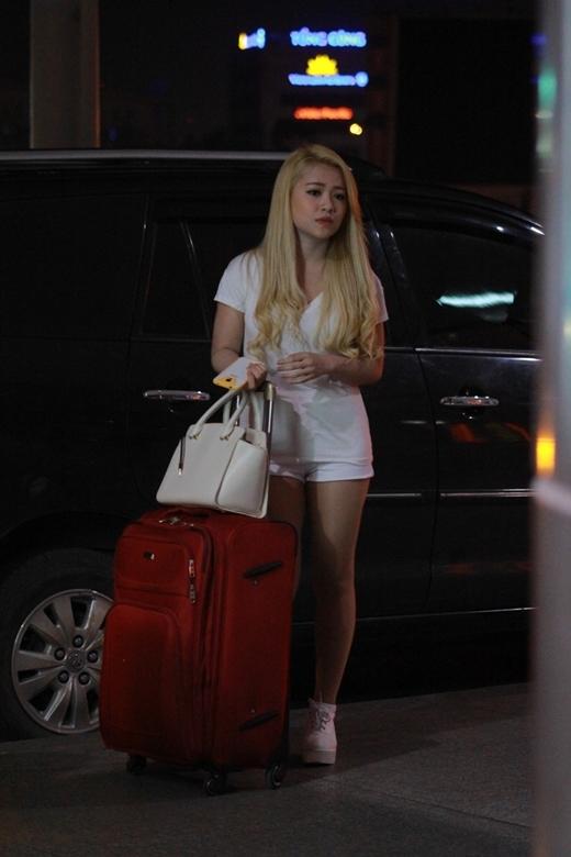 Đây là lần đầu tiên được đến Hàn Quốc, cô nàng vô cùng hào hứng đến nỗi đêm hôm trước khi đi không thể ngủ được vì hồi hộp.