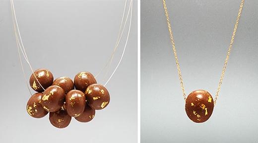 Trang sức được làm từ vàng thật và chocolate