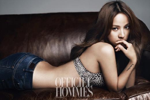 Hình ảnh gợi cảm của Lee Hyori