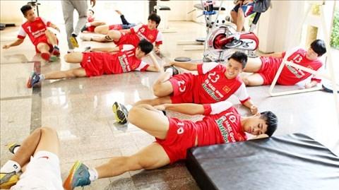 U19 Việt Nam đang tích cực tập luyện chuẩn bị cho giai đoạn nước rút