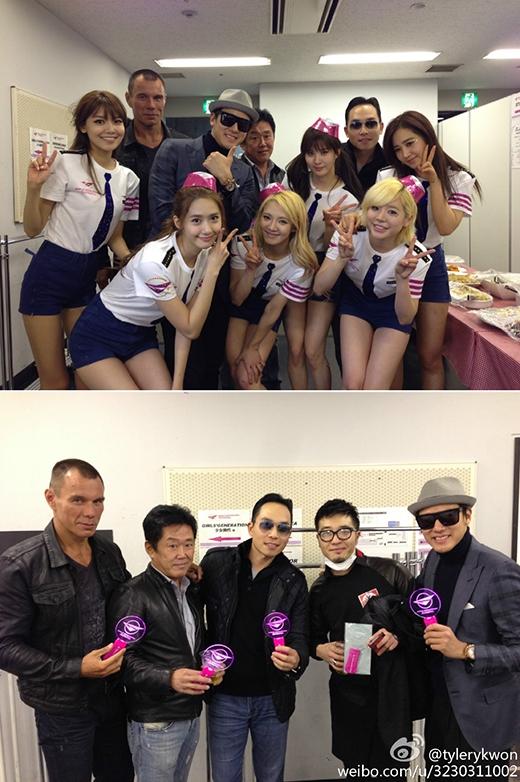 Tyler Kwon và những người bạn cùng nhau đi xem concert của SNSD vào năm 2013