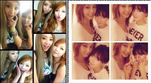 Được biết đến là hai nghệ sỹ gợi cảm nhất Kpop, G.Na và HyunA còn là đôi bạn luôn thân thiết với nhau. Họ thích cùng nhau chụp nhiều tấm hình selca và biểu hiện những cử chỉ đáng yêu trước ống kính.