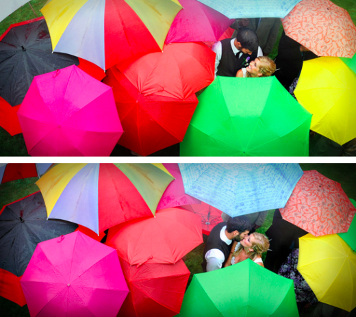 Cực lãng mạn với chùm ảnh lễ cưới ngày mưa