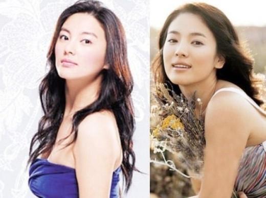 Trương Vũ Ỷ ở Trung Quốc, Song Hye Gyo bên Hàn Quốc nhưng 2 người có những góc chụp khiến nhiều người nhầm lẫn.