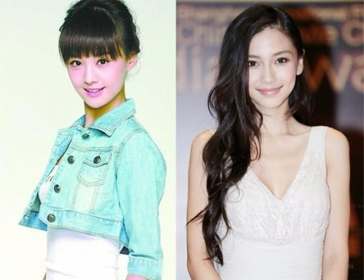 Lúc mới vào nghề, Trịnh Sảng và Angelababy khác nhau, nhưng bây giờ gương mặt họ lại có nhiều nét giống nhau. Có lẽ đây là kết quả của việc cả 2 đã từng đụng đến dao kéo.
