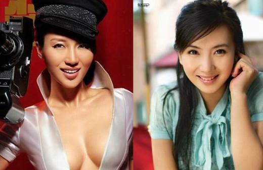 Có gương mặt khá giống nhau nhưng nếu nữ ca sĩ A Đóa theo phong cách sexy, nóng bỏng thì Trần Hảo lại chuyên thể hiện những vai dịu dàng trên màn ảnh nhỏ.