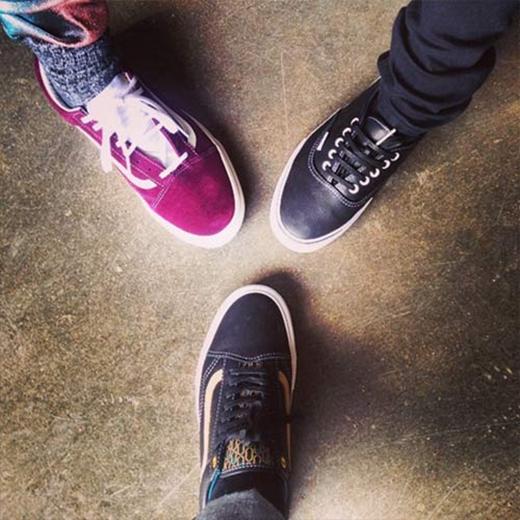 Taeyang hào hứng khoe giày mới trên Instagram của mình