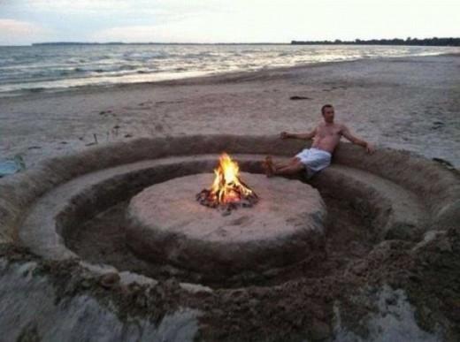 Xây lâu đài cát 'level bá đạo'
