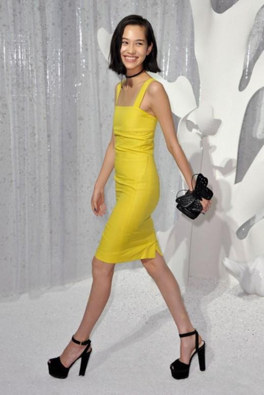 Bức ảnh chụp tại show Chanel năm 2012 của Kiko bị antifan bới lại bởi mô tả được rõ nét khuôn ngực phẳng lì