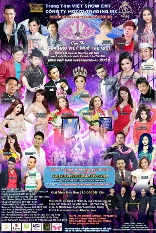 Poster chương trình Cuộc thi hoa hậu Việt Nam thế giới khu vực châu Á - Tin sao Viet - Tin tuc sao Viet - Scandal sao Viet - Tin tuc cua Sao - Tin cua Sao