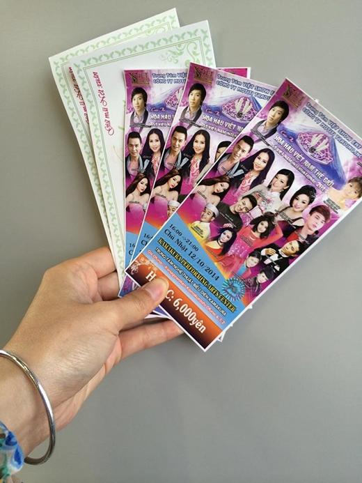 Vé xem chương trình Hoa hậu Vietnam Thế Giới tại Nhật Bản – Chương trình tuy để là 16:00 khai mạc nhưng đến 17:00 vẫn chưa khai mạc. - Tin sao Viet - Tin tuc sao Viet - Scandal sao Viet - Tin tuc cua Sao - Tin cua Sao