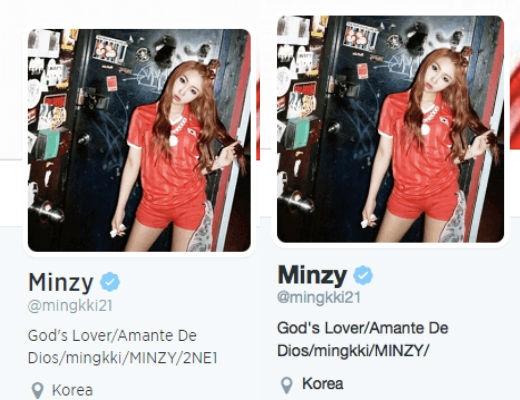 Minzy đã gỡ bỏ dòng chữ 2NE1 ra khỏi lý lịch cá nhân trên tài khoản Twitter