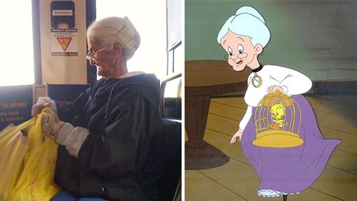 Bà ngoại trong phim hoạt hình Looney Tunes ngoài đời thật sẽ thế này đây