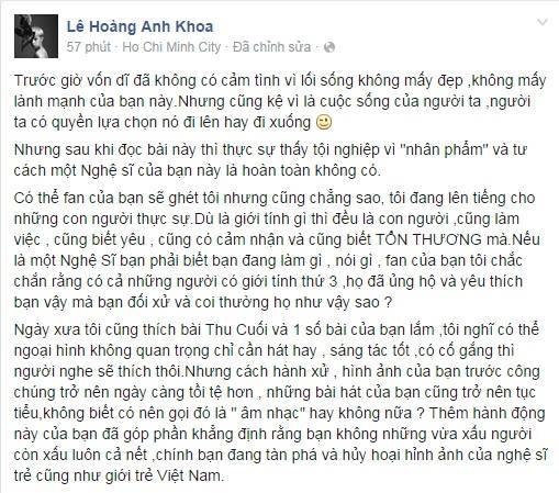 Hotboy Kelbin Lei cũng chia sẻ: 'Có thể fan của bạn ghét tôi, nhưng tôi đang lên tiếng cho những con người thực sự!' - Tin sao Viet - Tin tuc sao Viet - Scandal sao Viet - Tin tuc cua Sao - Tin cua Sao