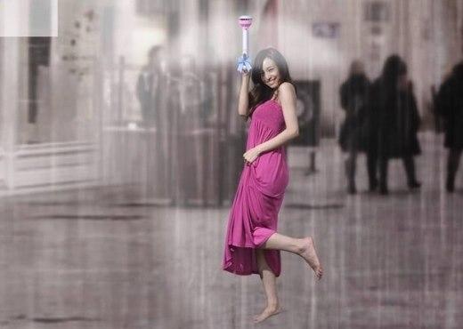 """Thú vị """"chiếc ô"""" dùng trường lực để giúp người khỏi ướt"""