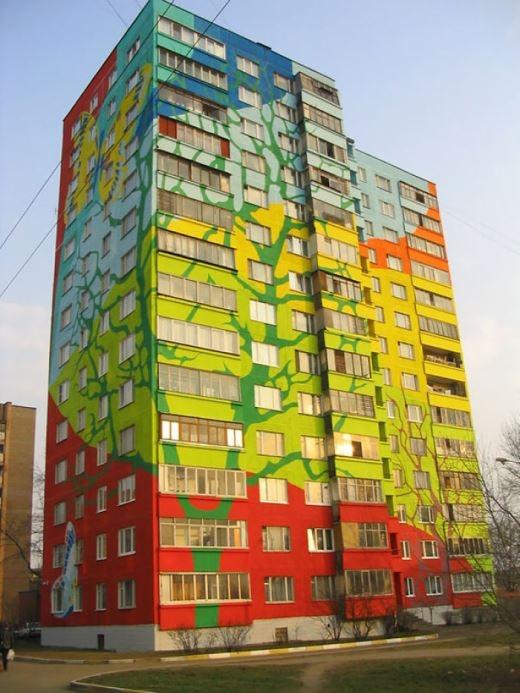 Thật khó tin khi ở Ramenskoye, Nga cũng có những tòa nhà đa sắc' thế này   Khi trời mưa, ngôi nhà này sẽ phát ra cả một bản giao hưởng đấy