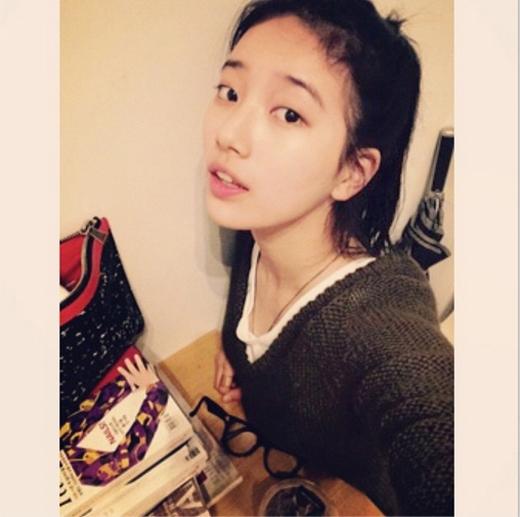 Suzy khoe mặt mộc cực đáng yêu