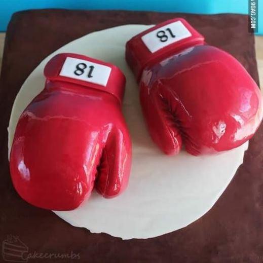 Chắc hẳn chủ nhân của chiếc bánh sinh nhật này là một tín đồ của môn thể thao boxing