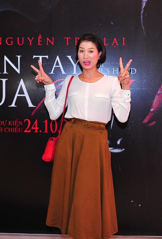 Trang Trần cũng đang tất bật tham gia các hoạt động quảng bá cho bộ phim.