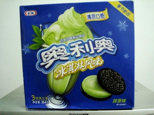 Bánh Oreon vị trà xanh ở Trung Quốc