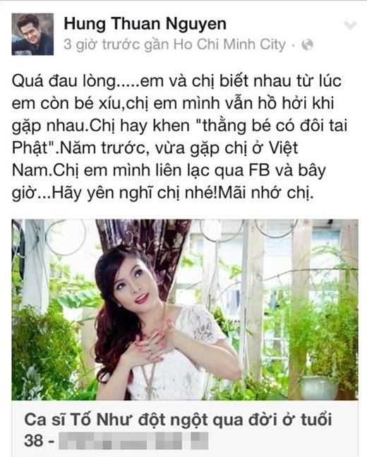 Nam diễn viên Hùng Thuận nhớ lại những kỉ niệm giữa 2 chị em.