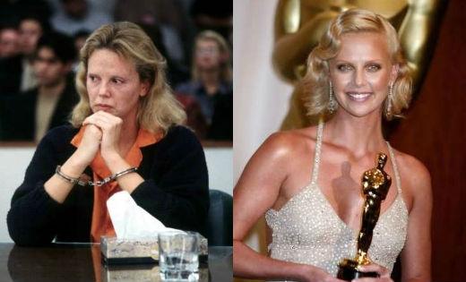 Trong phim Monster năm 2003, Charlize Theron phải tăng thêm hơn 13kg vì vai diễn sát thủ.