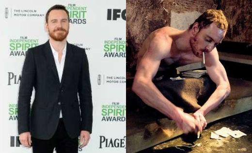Michael Fassbender đã giảm hơn 15kg khi vào vai diễn Bobby Sands trong phim Hunger.