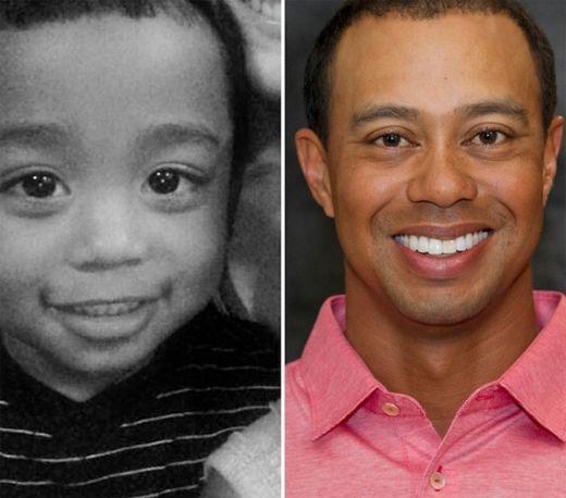 Điều bất ngờ nhất là cậu bé ở bên trái tấm hình trông giống hệt Tiger Woods khi còn trẻ