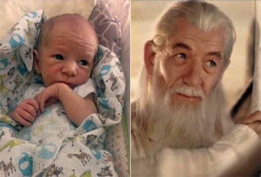Làm thế nào mà đứa bé này lại giống với nhân vật phù thủy Gandalf do Ian McKellen thủ diễn đến như thế? Đó thực sự là một bản sao!