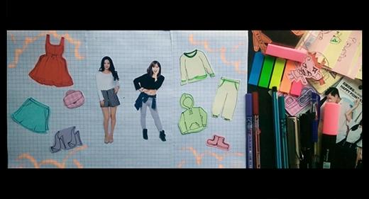 Thảo và Hà với style ăn mặc khác nhau