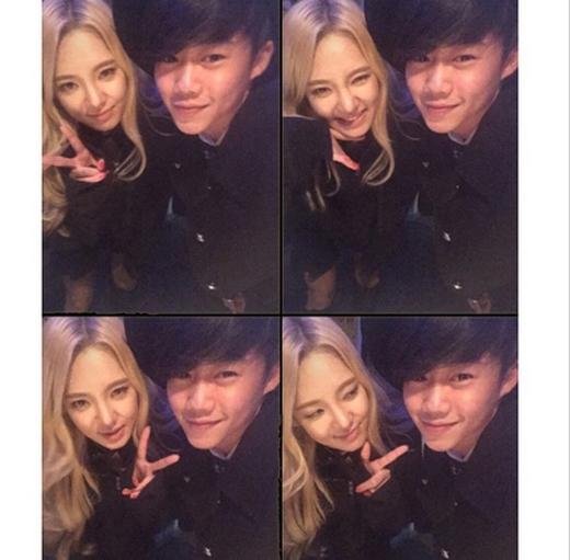 Hyoyeon khoe hình cực thân thiết bên diễn viên nhí Park Ji Min