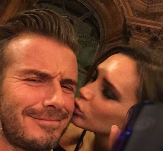 Tình cảm của Victoria và David Beckham lúc nào cũng như mới