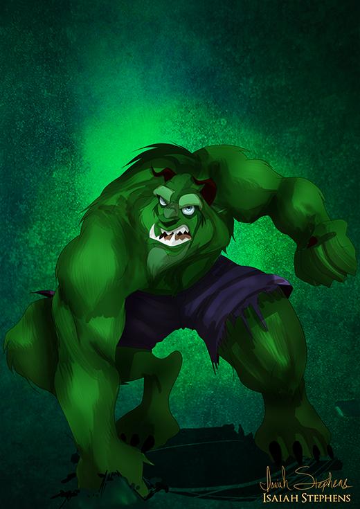 Còn nhân vật nào hợp với anh chàng Quái vật hơn là Hulk chứ ?
