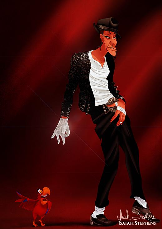 Jafar lại có vẻ thích làm ông hoàng âm nhạc Michael Jackson