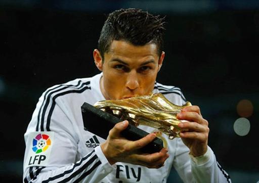 Ronaldo nhận danh hiệu Chiếc giày Vàng châu Âu mùa giải 2013/14