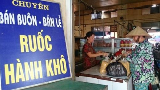 Thịt chà bông được bày bán với giá 75.000 đồng/kg tại chợ Hà Đông