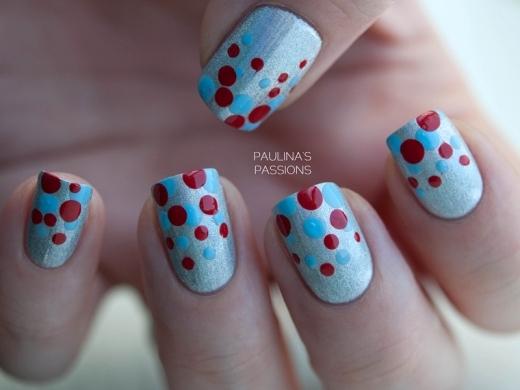 Những mẫu nail chấm bi siêu dễ thương dễ làm