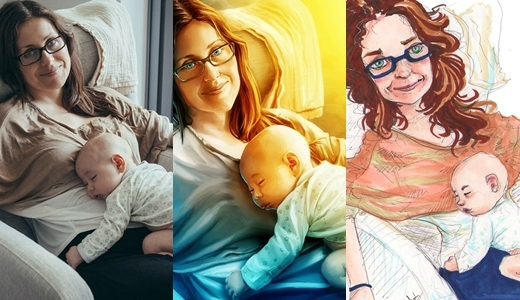 Đáng yêu ông bố thuê 23 nghệ sĩ vẽ tặng sinh nhật vợ