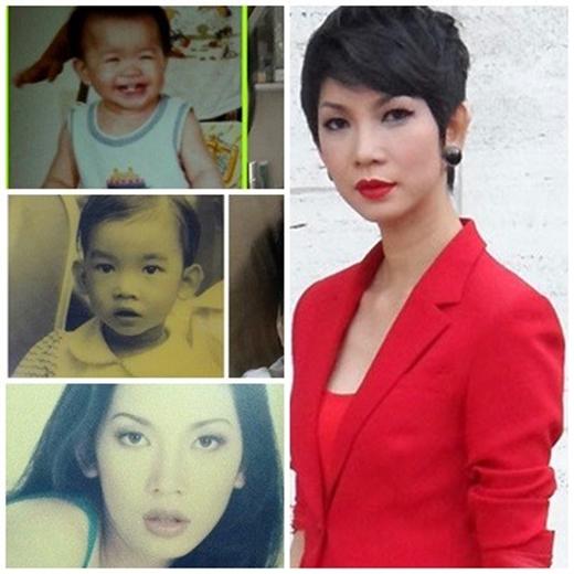 Từ nhỏ Xuân Lan đã trung thành với kiểu tóc ngắn trông khá giống con trai và gương mặt cực lạnh. Hiện tại cô vẫn giữ một phong cách ấn tượng đó - Tin sao Viet - Tin tuc sao Viet - Scandal sao Viet - Tin tuc cua Sao - Tin cua Sao