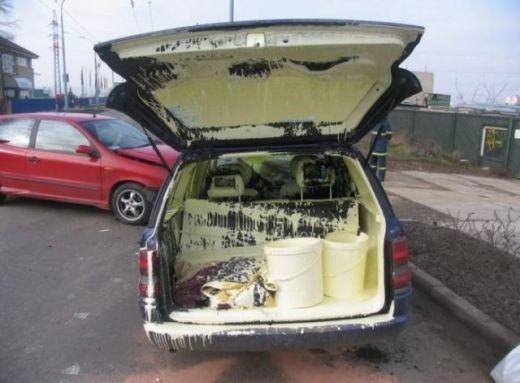 Hậu quả của việc chở thùng sơn mà không đậy nắp
