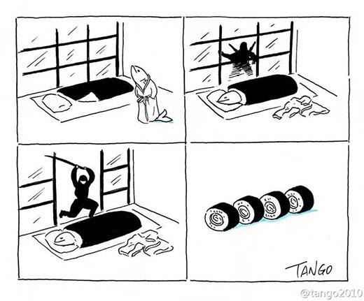 Và đây là cách sushi được chế biến sao?