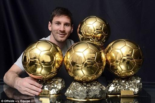 Messi là cầu thủ duy nhất giành 4 Quả Bóng Vàng liên tiếp