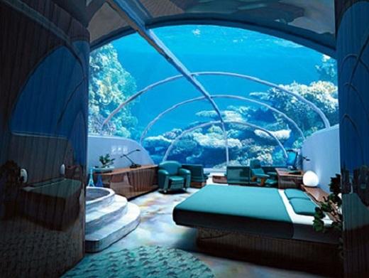 Bạn sẽ được trải nghiệm cảm giác sinh hoạt nơi 40 mét dưới đáy biển