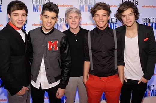One Direction tại buổi ra mắt Big Time Movie của Nickelodeon Original TV ngày 8/3/2012.