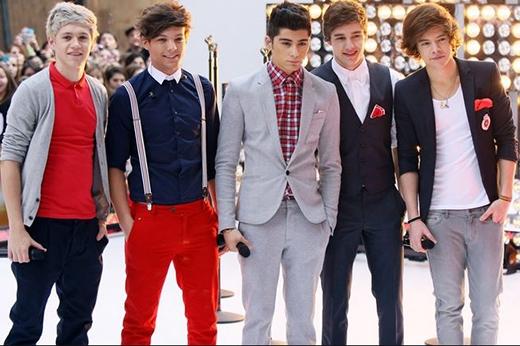 One Direction xuất hiện trong show Todayđầu tiên vào ngày 12/3/2012 tại thành phố New York.