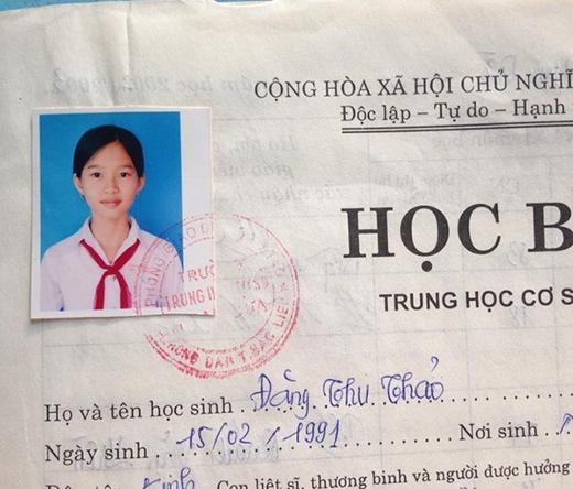 Hình thẻ thời học cấp 2 của hoa hậu Thu Thảo. - Tin sao Viet - Tin tuc sao Viet - Scandal sao Viet - Tin tuc cua Sao - Tin cua Sao
