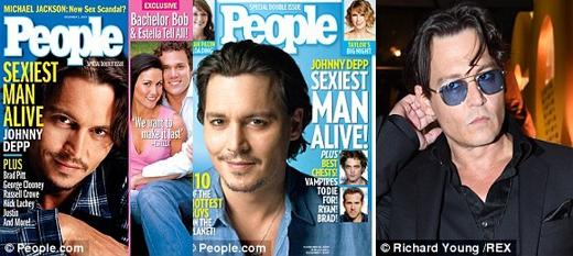 Johnny Depp là một nghệ sĩ nữa 2 lần được vinh danh: năm 2003 và 2009.