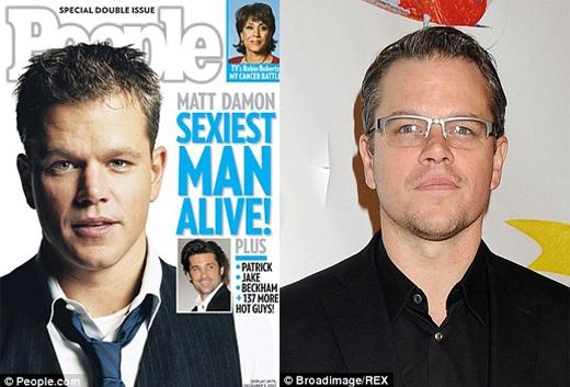 Matt Damon đã nhận được giải thưởng vinh dự này vào năm 2007 chỉ sau khi anh lập gia đình được 1 năm