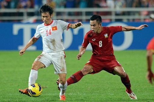 Tấn Tài không có thể hình quá lý tưởng nhưng chơi rất lăn xả và thể lực tuyệt vời. Anh cũng ghi được một số bàn thắng cho ĐTVN trong giai đoạn tập huấn chuẩn bị cho AFF Cup 2014. Ảnh: Getty Images.