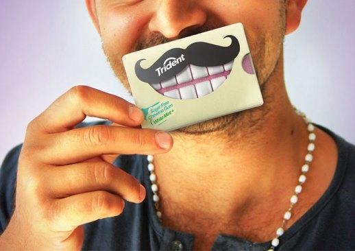 Kẹo cao su giúp trắng răng. Nhìn vào bao bì này ai mà chẳng muốn mua cơ chứ